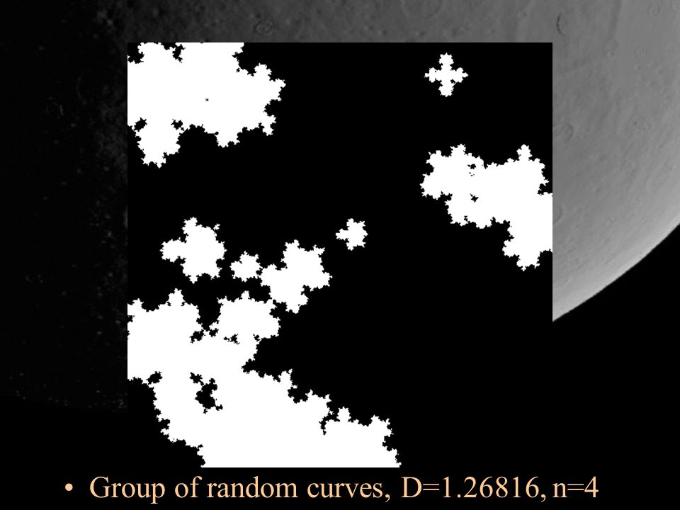 Group of random curves, D=1.26816, n=4