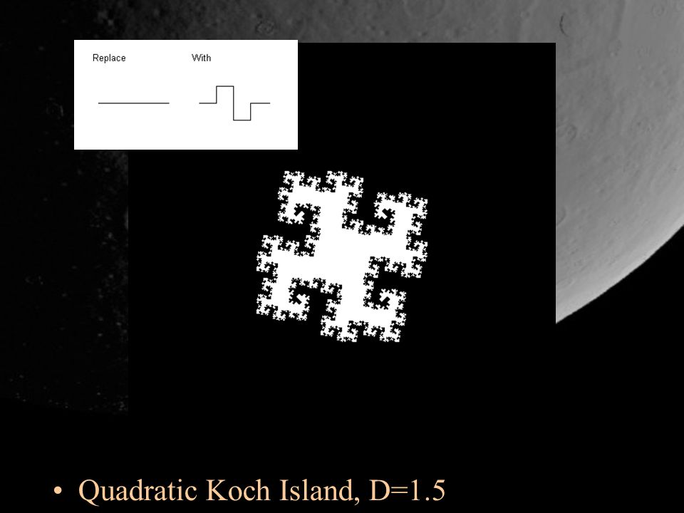 Quadratic Koch Island, D=1.5