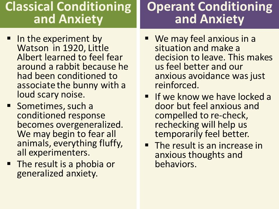 classical operant conditioning and phobias essay Classical vs operant conditioning classical conditioning and operant conditioning are learning methods that have been along with classical conditioning, operant conditioning can also reach not everyone with phobia reports an aversive conditioning experience that.
