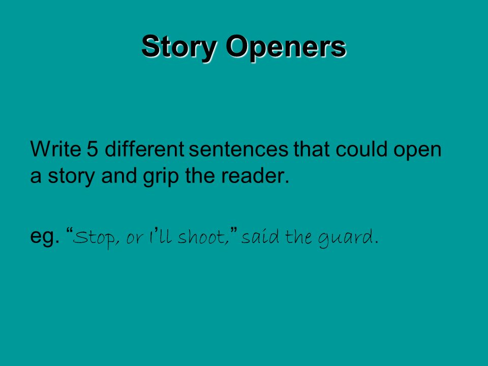 Write a different ending for the story