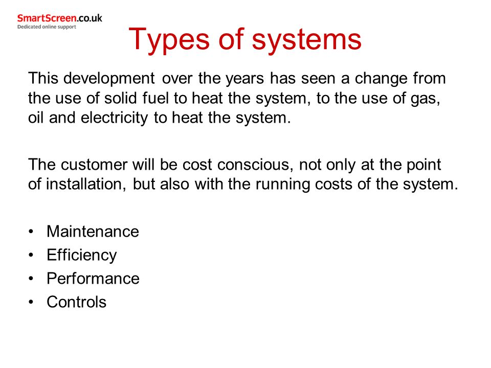 Unit 208 central heating systems ppt video online download for Types of gas heating systems