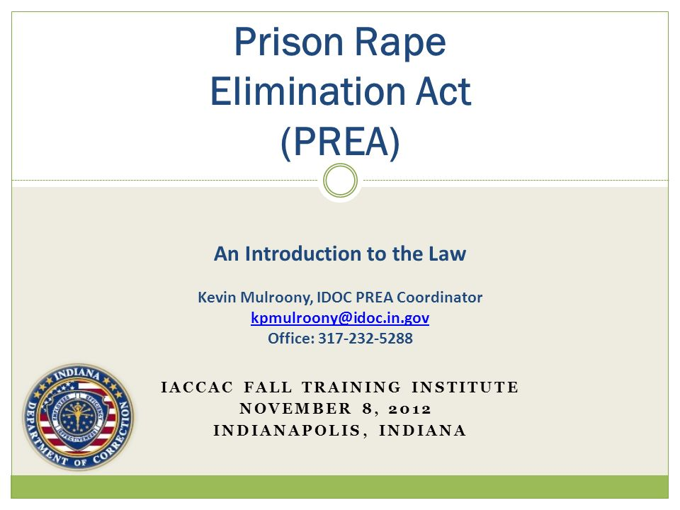 IACCAC Fall Training Institute November 8, 2012 Indianapolis, Indiana
