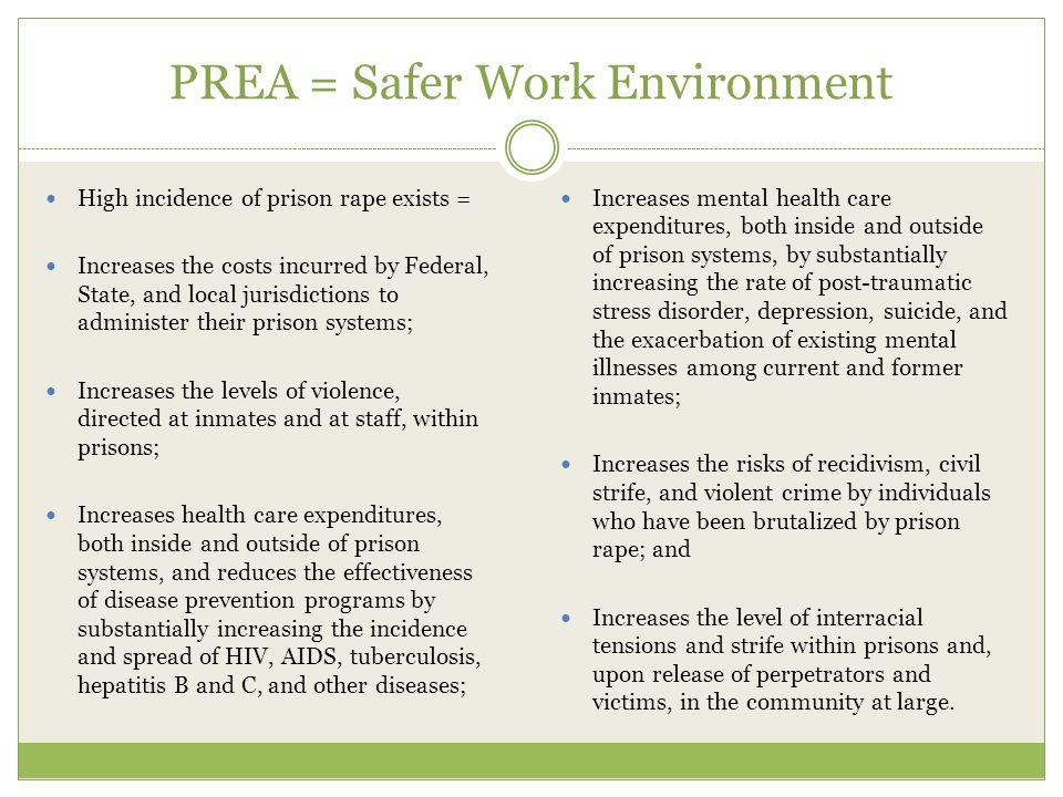 PREA = Safer Work Environment