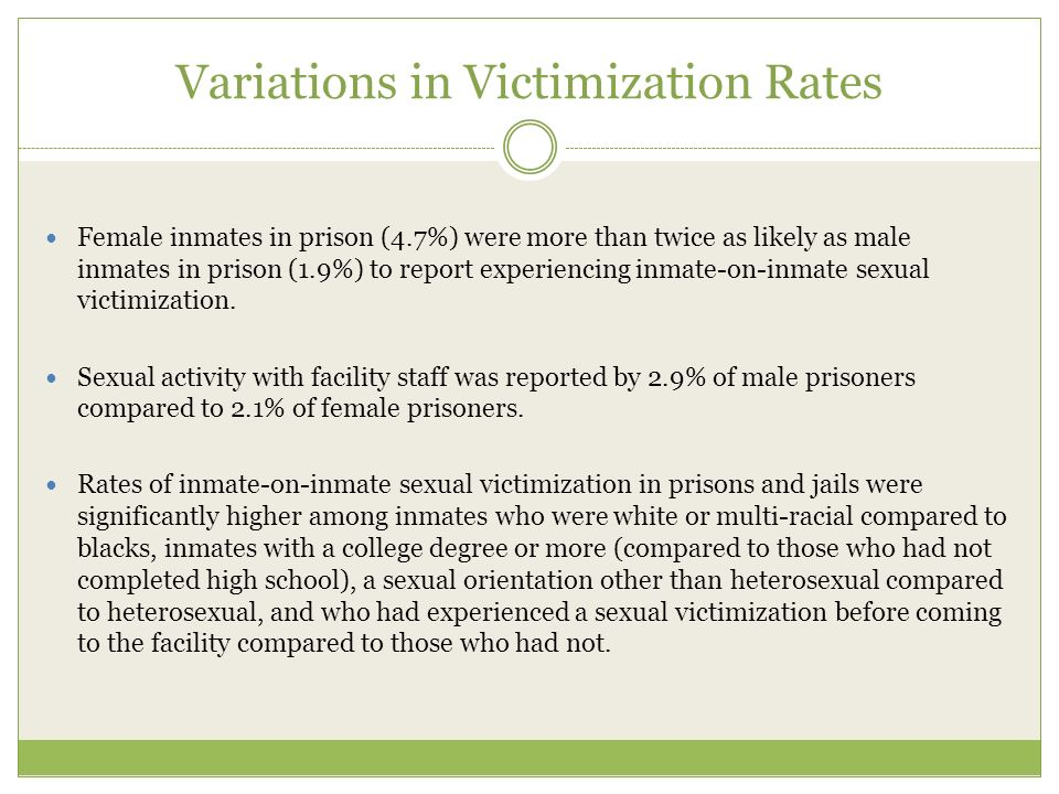 Variations in Victimization Rates