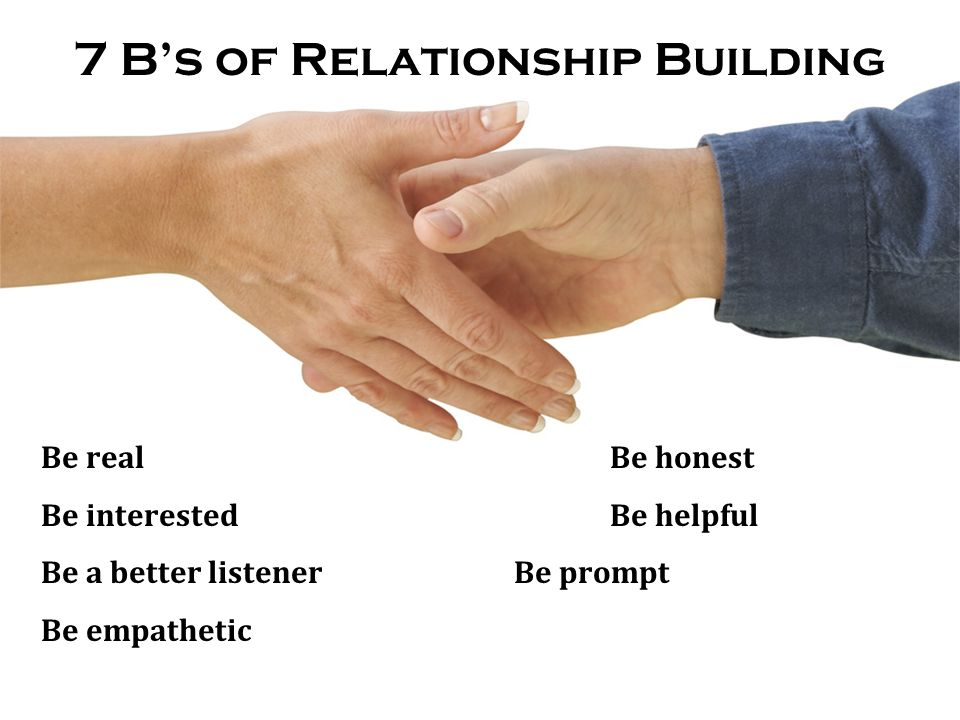 7 B's of Relationship Building