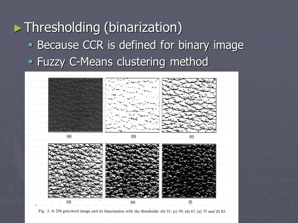 Thresholding (binarization)
