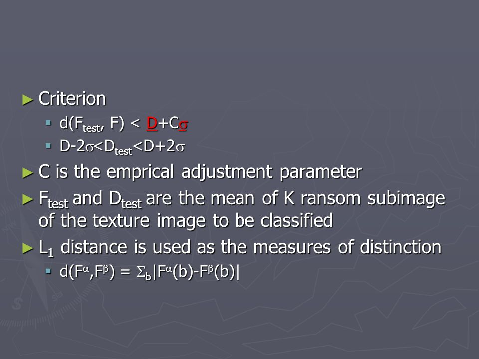 C is the emprical adjustment parameter