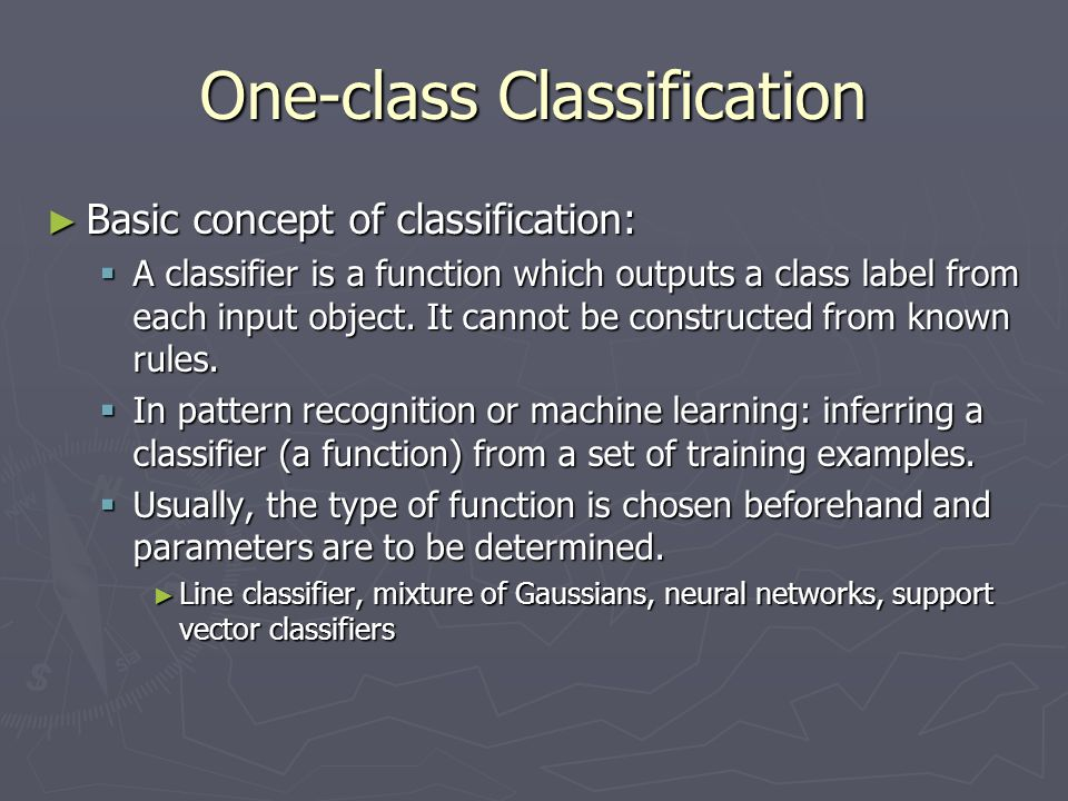 One-class Classification