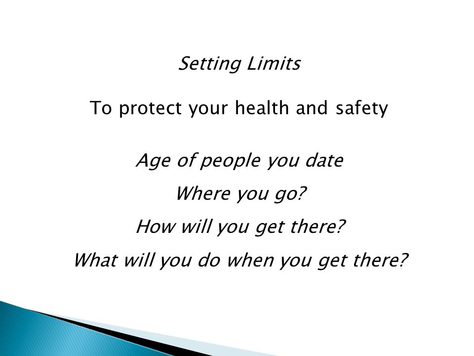 To protect your health and safety Age of people you date Where you go