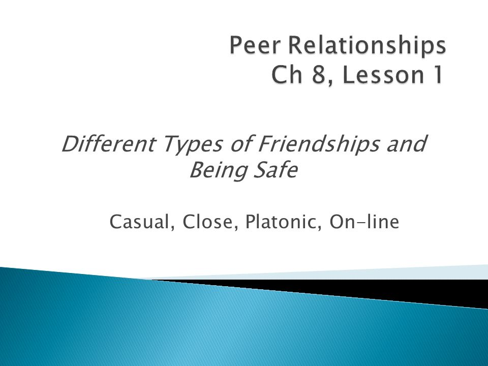Peer Relationships Ch 8, Lesson 1