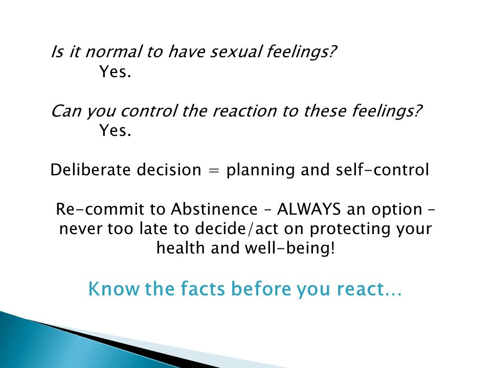 Know the facts before you react…
