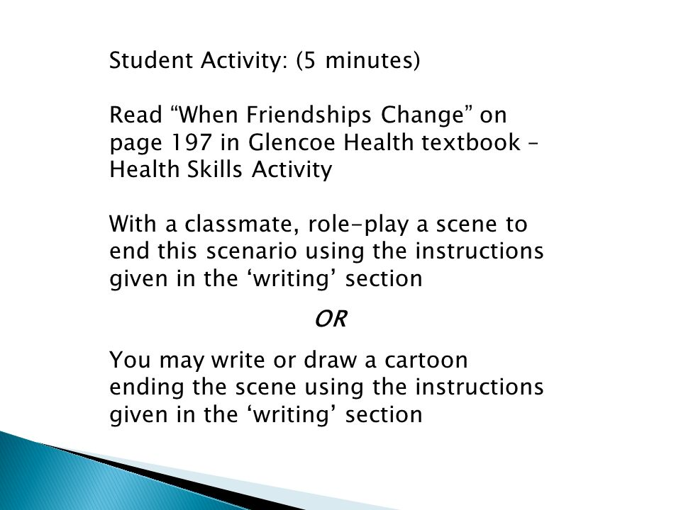 Student Activity: (5 minutes)