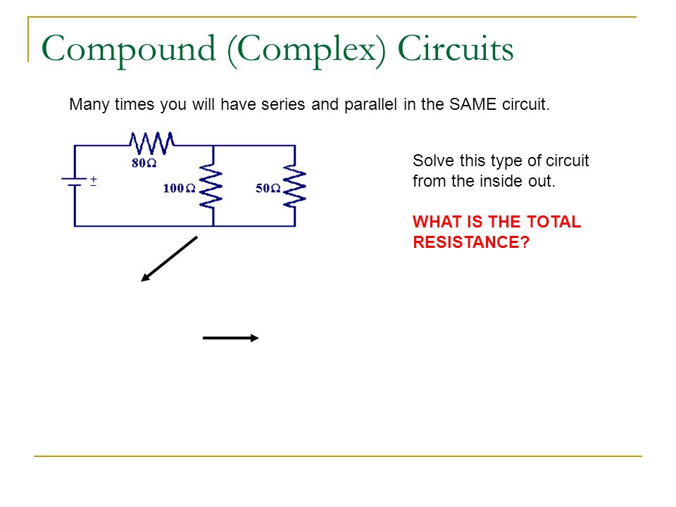 how to solve complex combination circuits