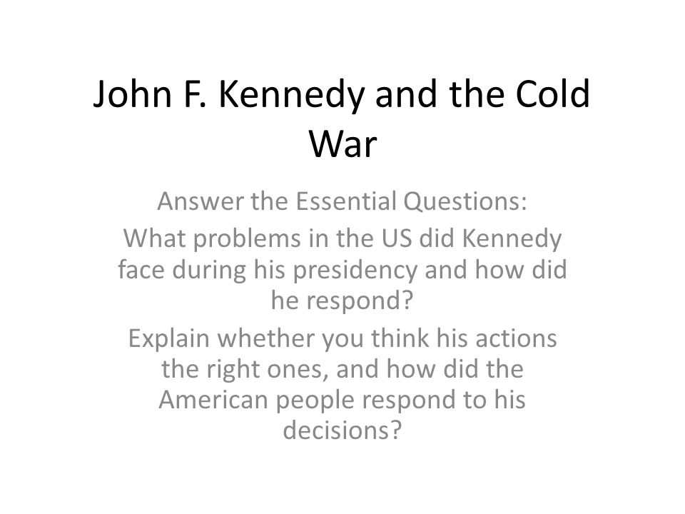 cold war question and answers essay Early cold war  late cold war  into western territories contributed to the coming of the civil war confine your answer to the period  essay questions.