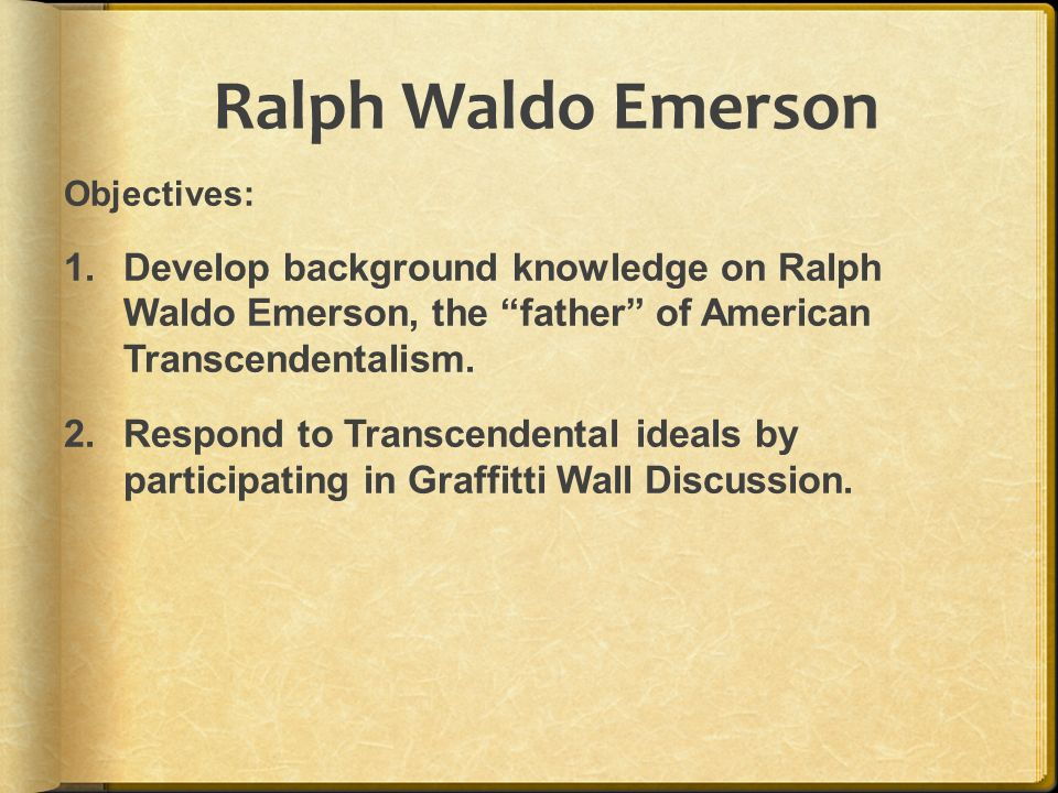 A biography of ralph waldo emerson an american transcendentalist