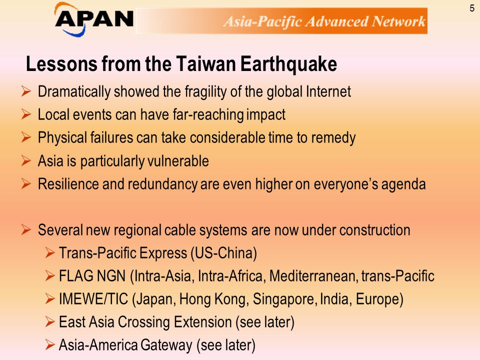 Lessons from the Taiwan Earthquake
