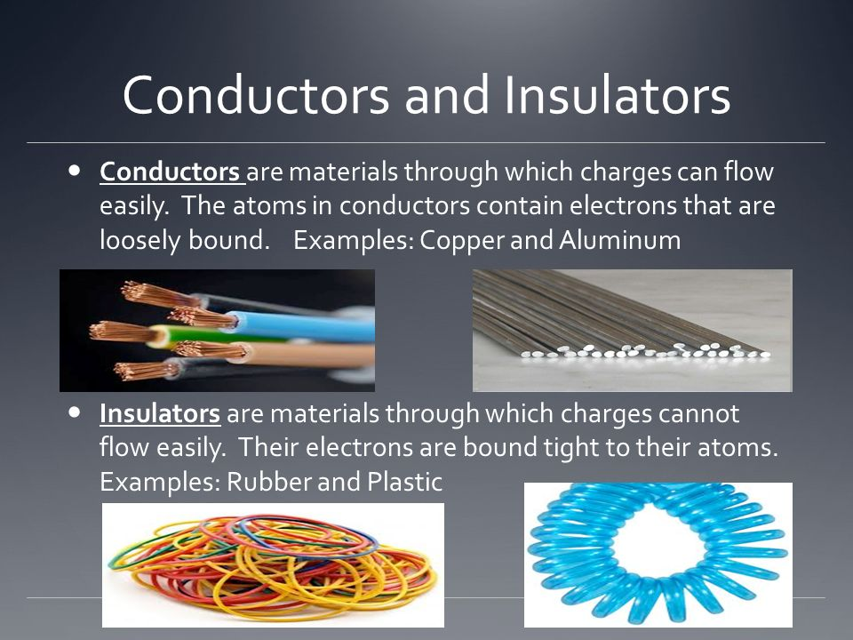 Electrical Conductors Examples : Electricity ppt download
