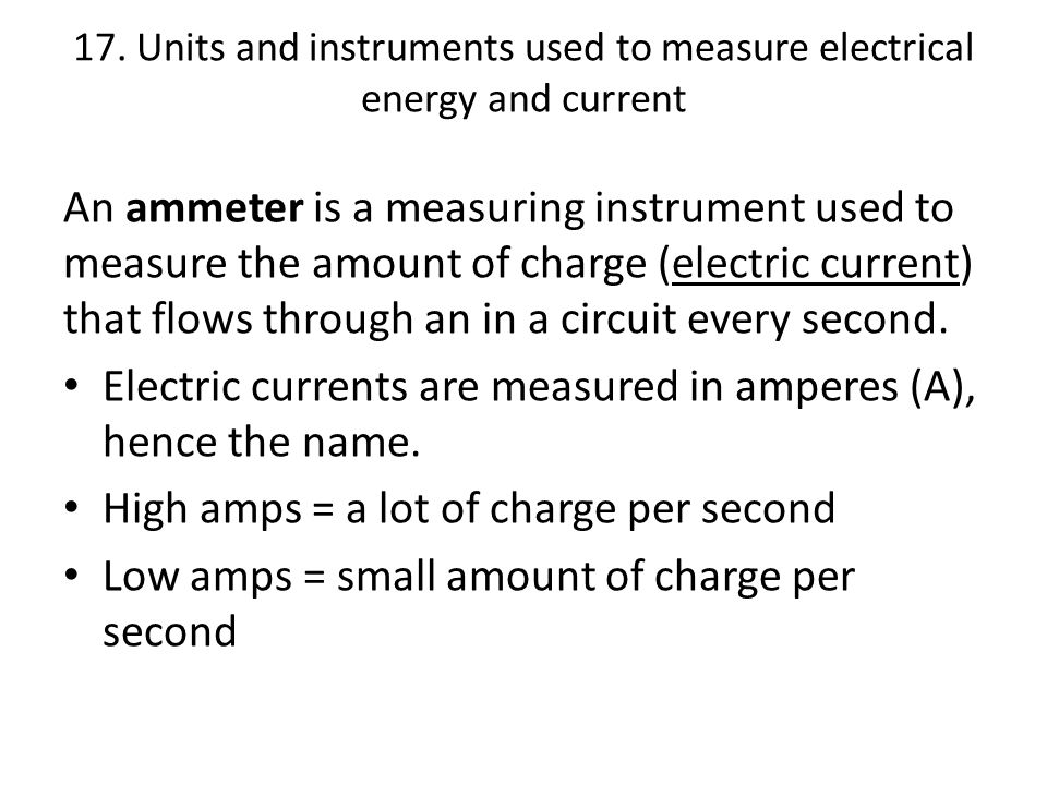 Electrical Measuring Instruments By Name : Phabulous physics electricity ppt download