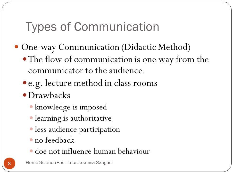 Extension Education Home Science Facilitator Jasmina ... Types Of Human Communication