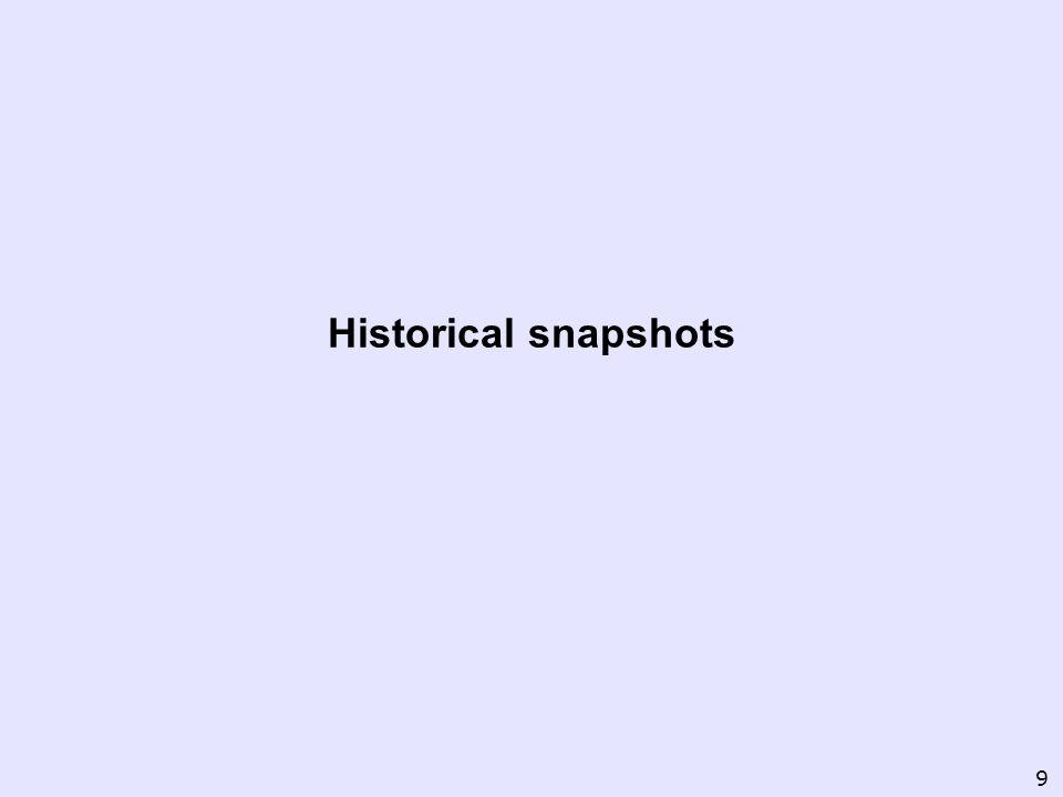Historical snapshots 9