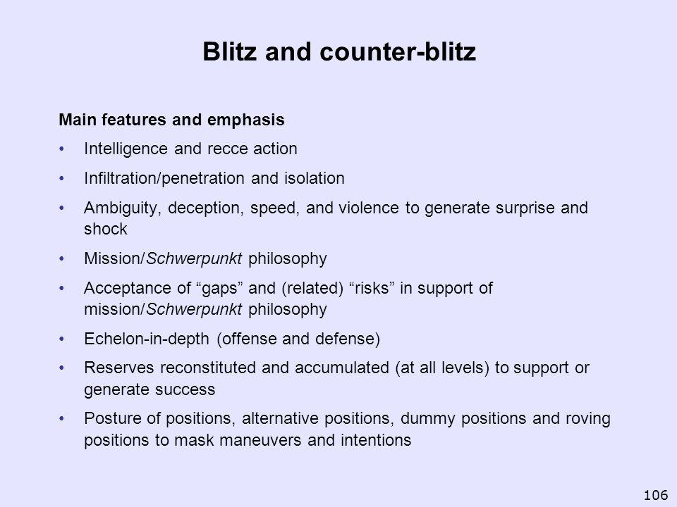Blitz and counter-blitz