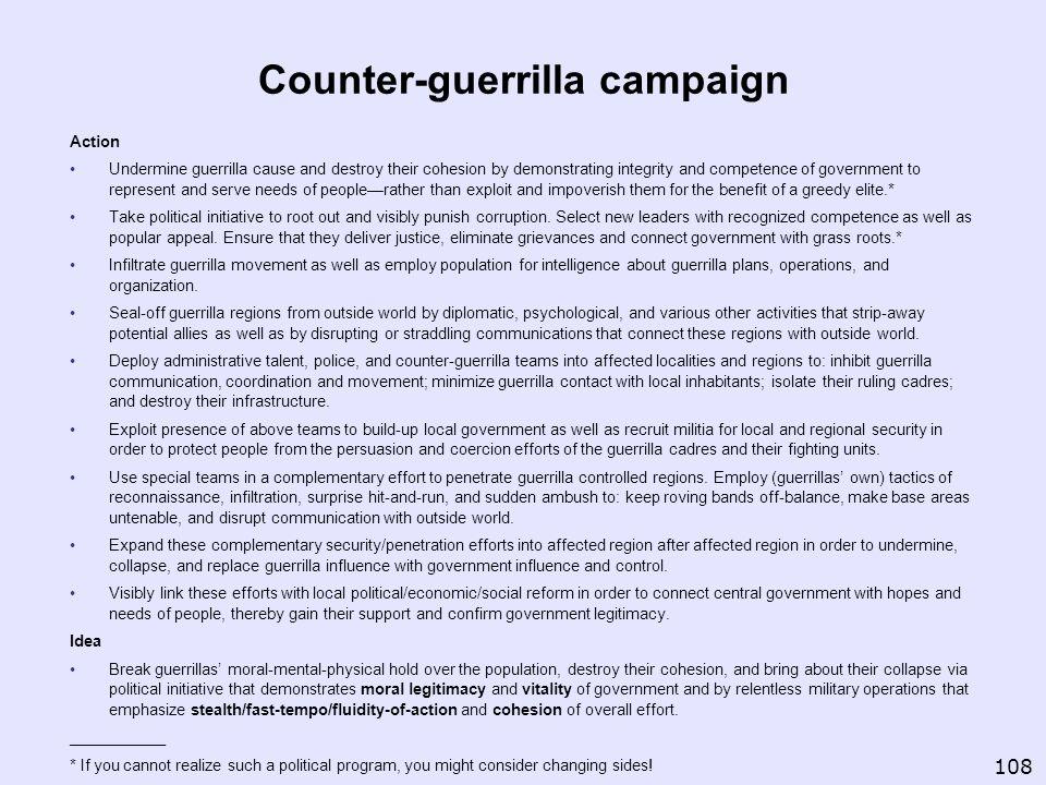 Counter-guerrilla campaign