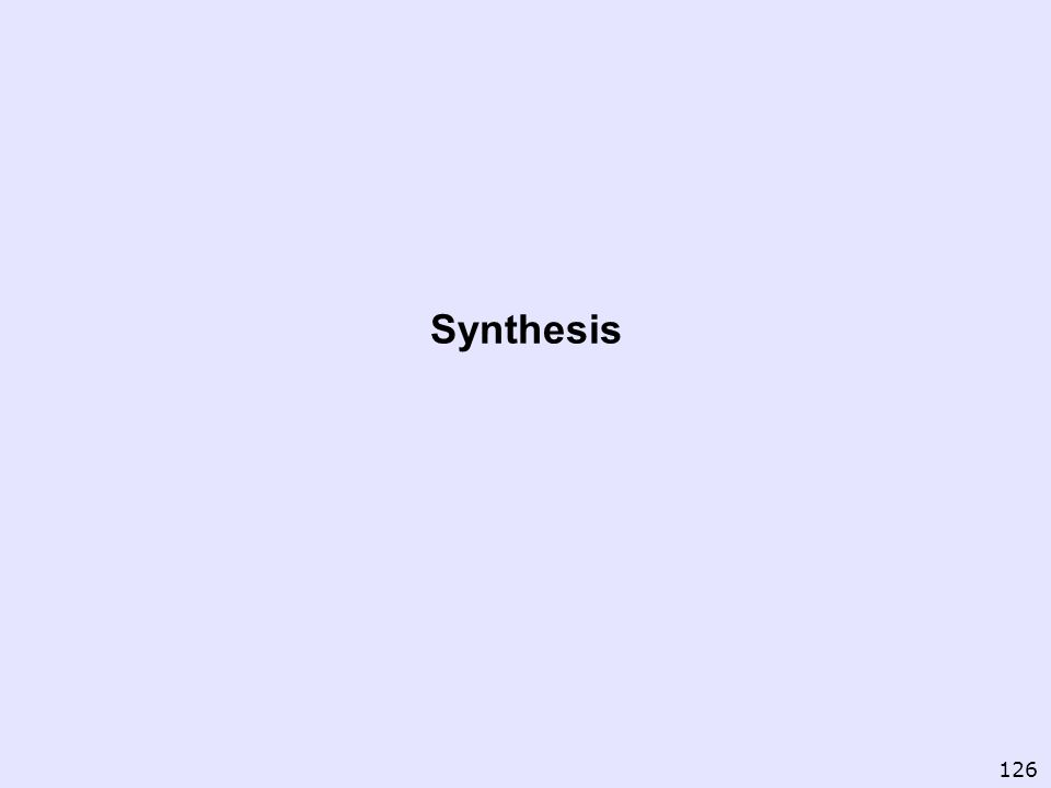 Synthesis 126