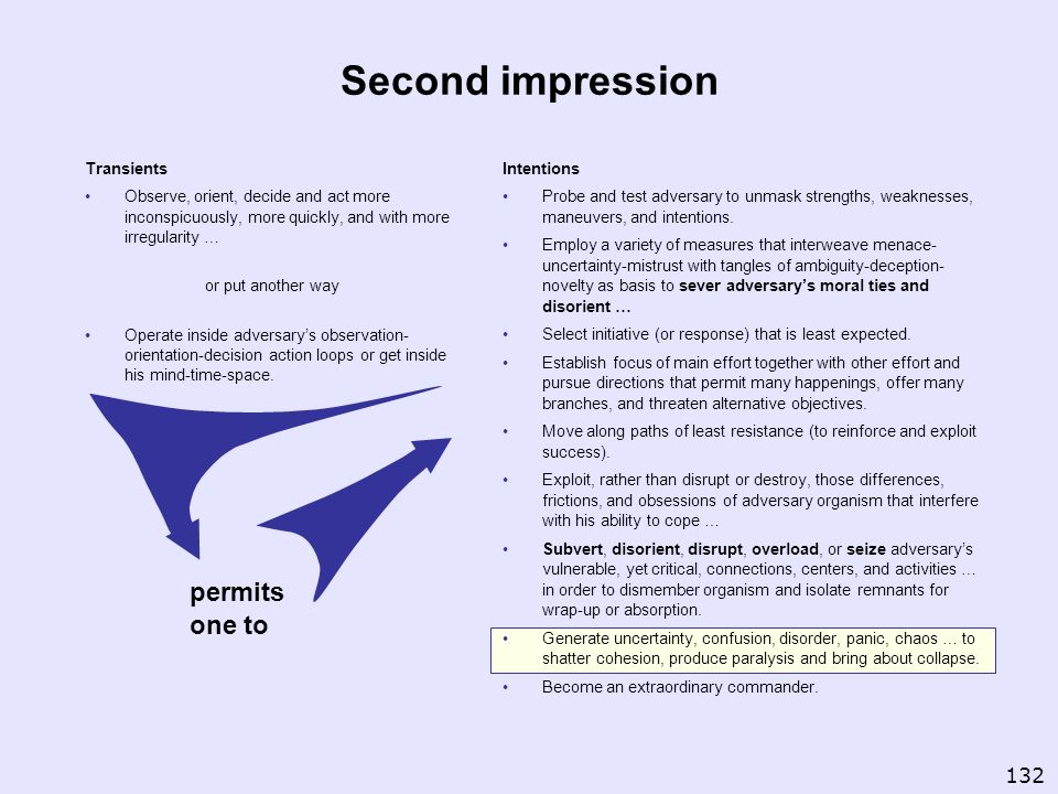 Second impression permits one to 132 Transients