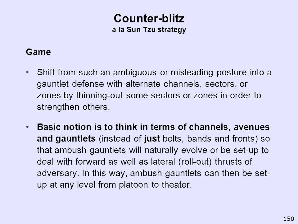 Counter-blitz a la Sun Tzu strategy