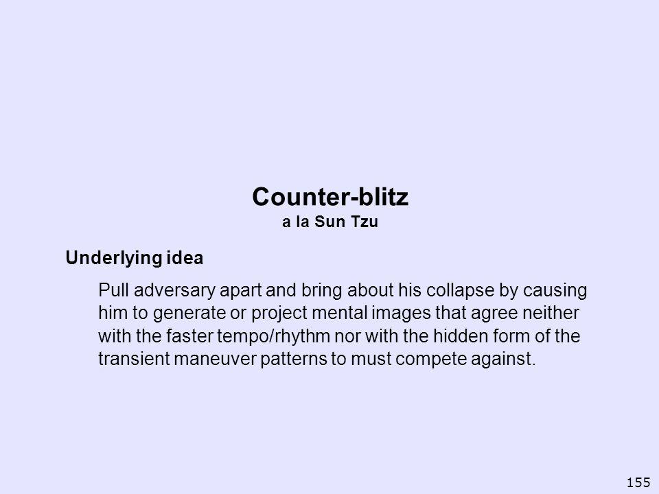 Counter-blitz a la Sun Tzu