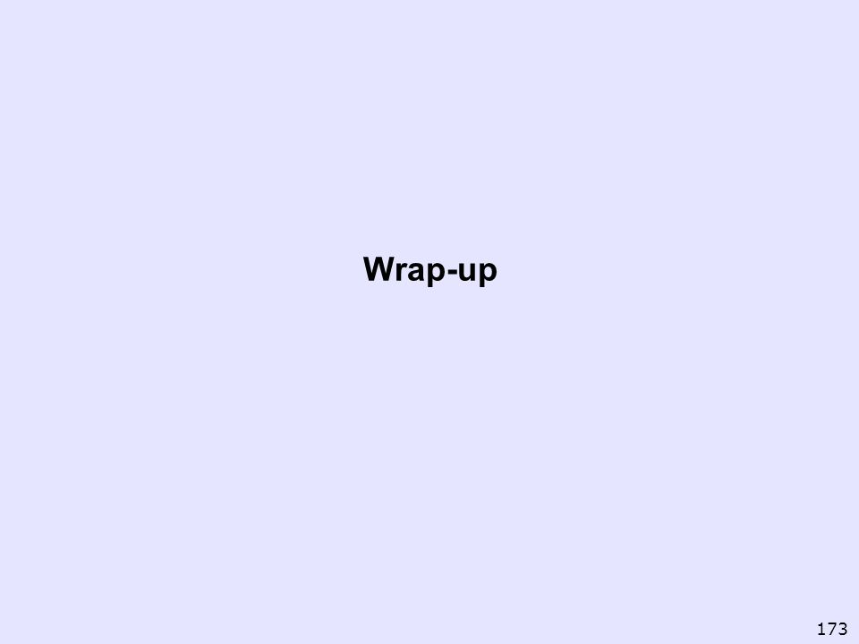 Wrap-up 173