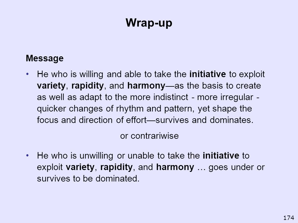 Wrap-up Message.