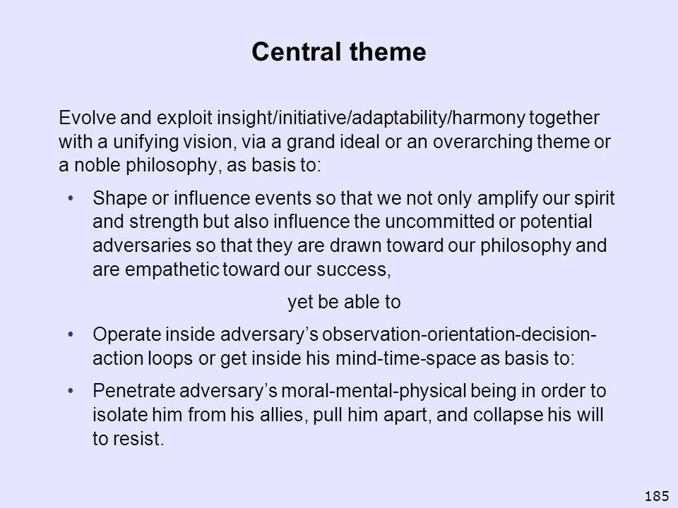 Central theme