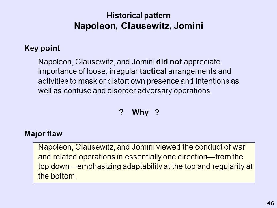 Historical pattern Napoleon, Clausewitz, Jomini