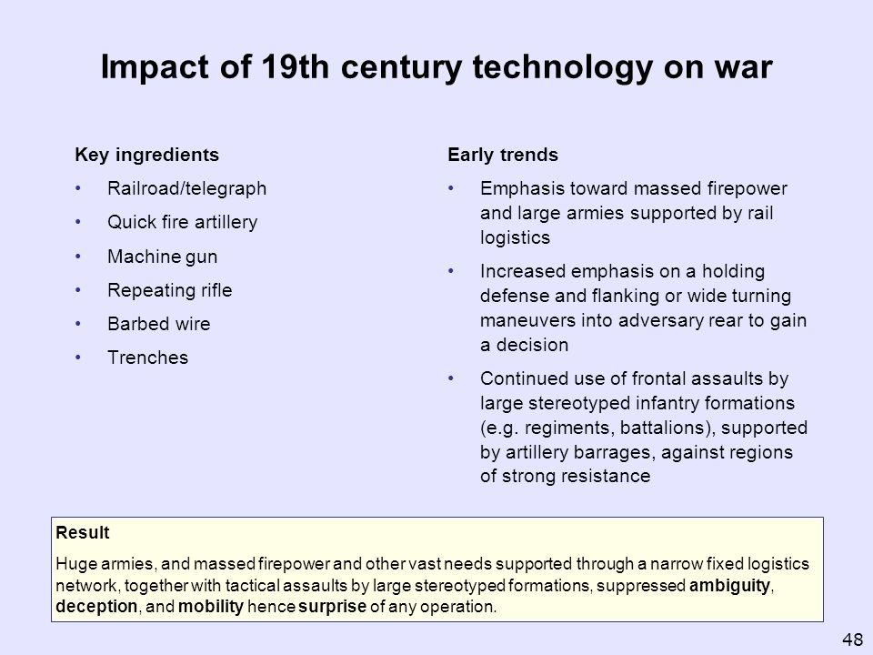 Impact of 19th century technology on war