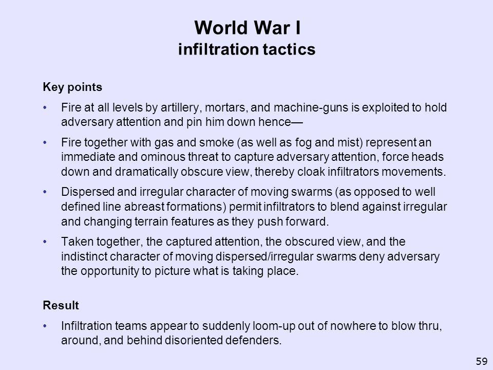 World War I infiltration tactics