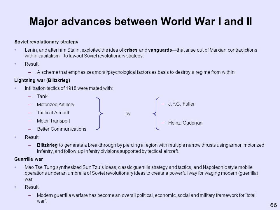 Major advances between World War I and II