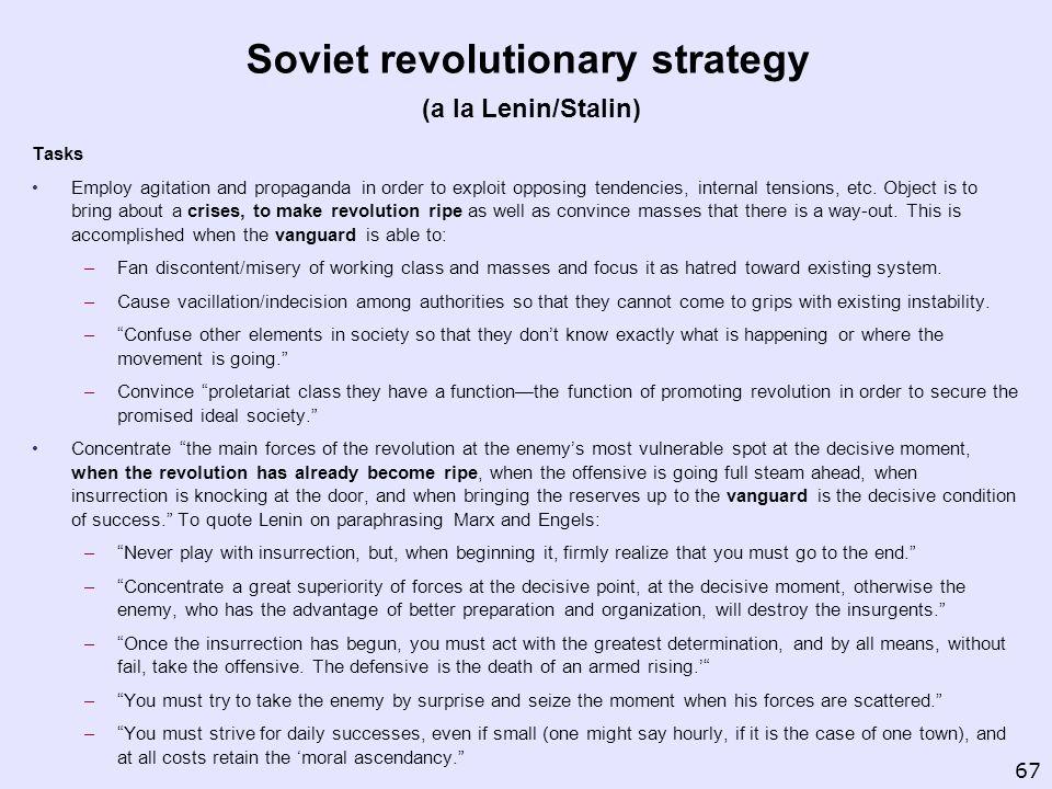 Soviet revolutionary strategy (a la Lenin/Stalin)