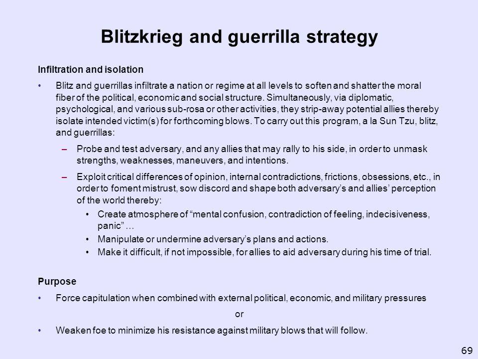 Blitzkrieg and guerrilla strategy