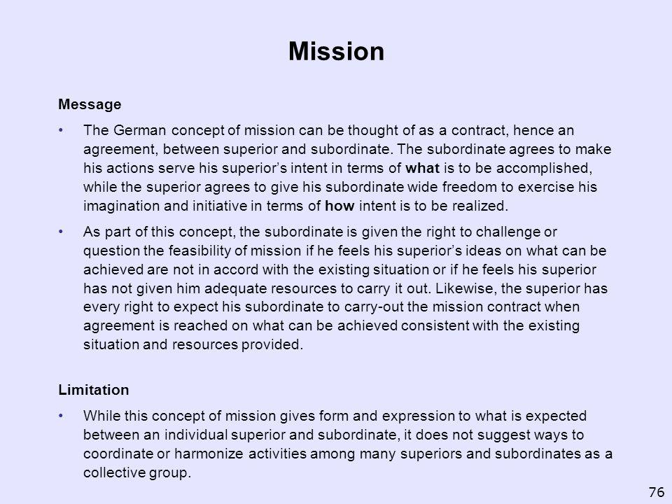 Mission Message.
