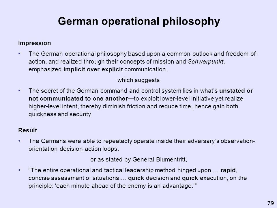 German operational philosophy