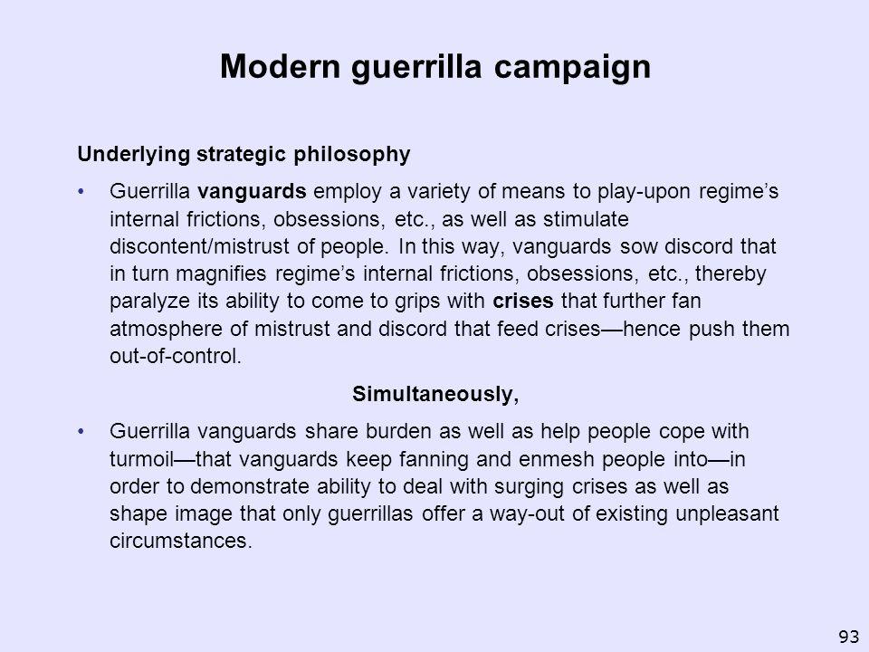 Modern guerrilla campaign