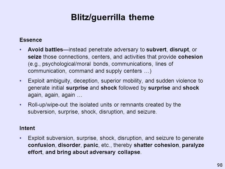 Blitz/guerrilla theme