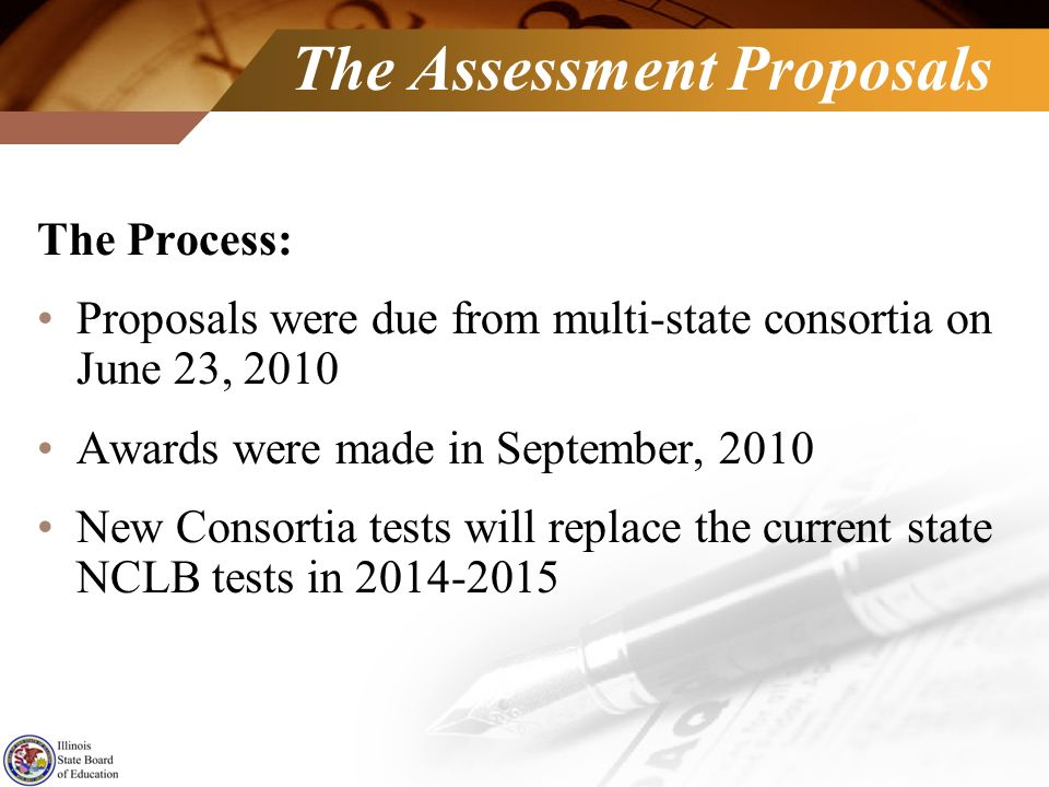 The Assessment Proposals