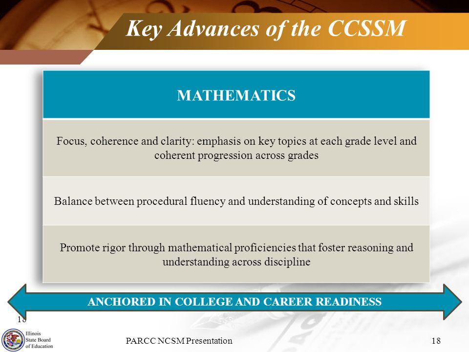 Key Advances of the CCSSM