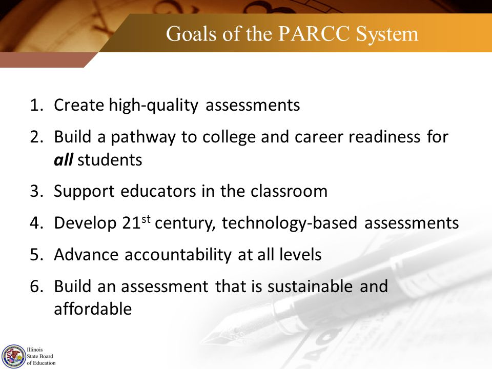 Goals of the PARCC System