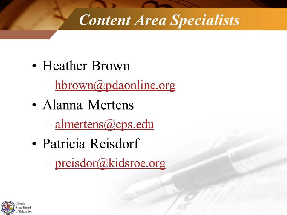 Content Area Specialists