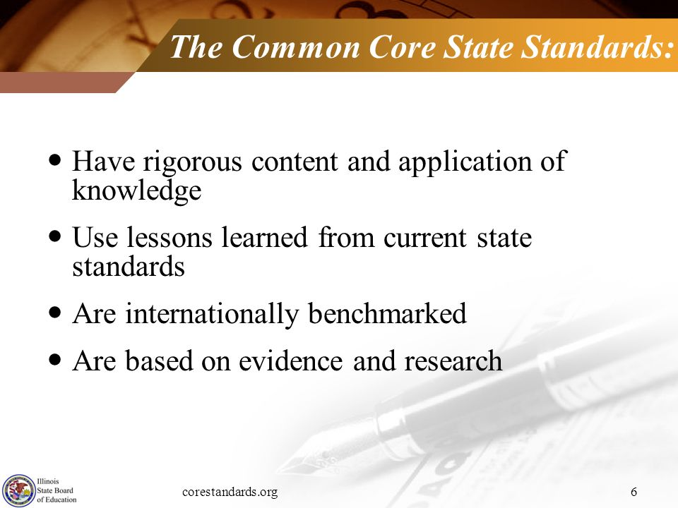 The Common Core State Standards: