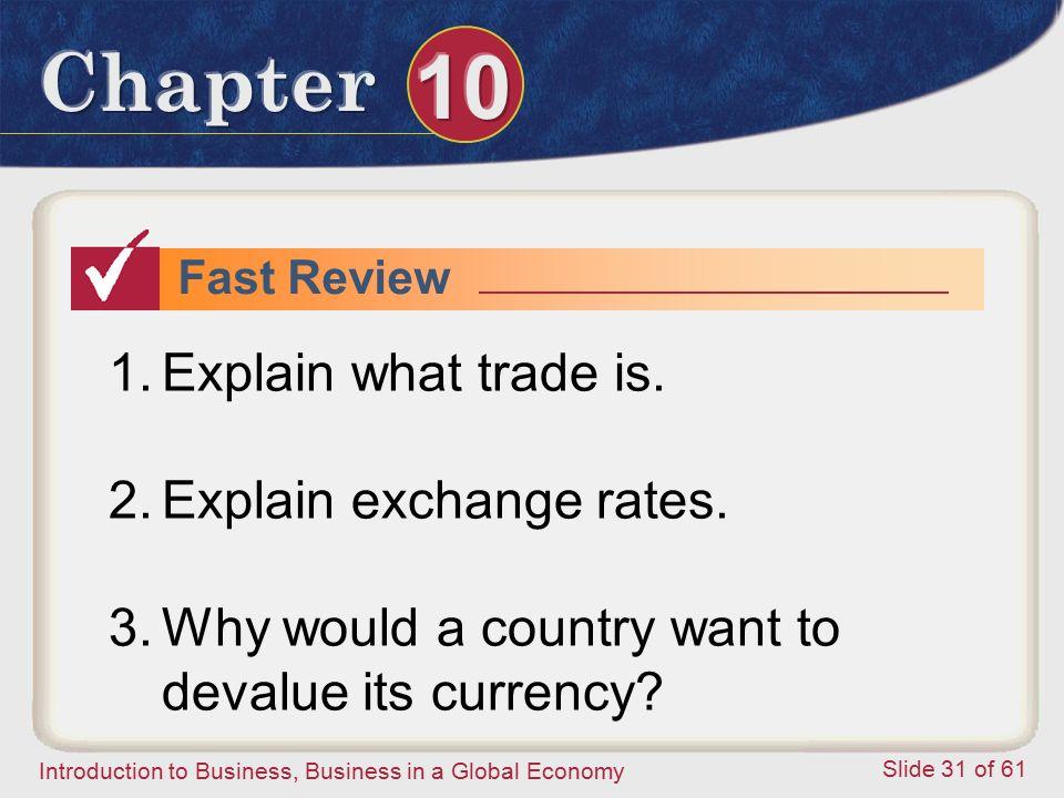 Explain exchange rates.