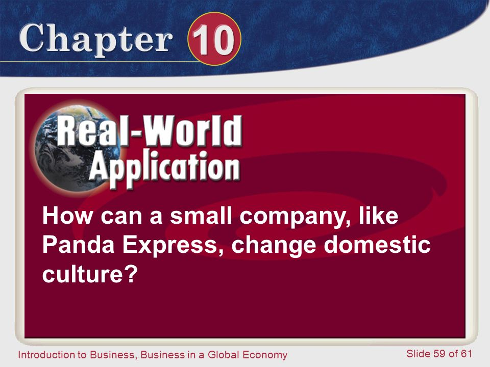 How can a small company, like Panda Express, change domestic culture
